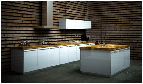 Mueble cocina a medida lacado for Muebles ballesta baza