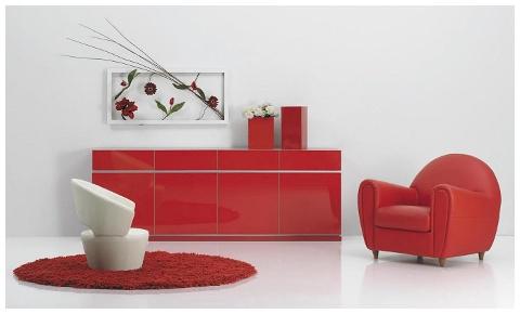 mueble lacado de salón-comedor a medida