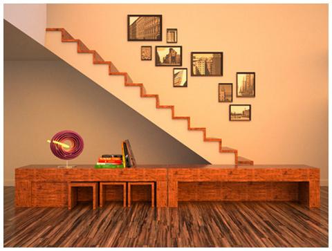 muebles de madera salon-comedor a medida