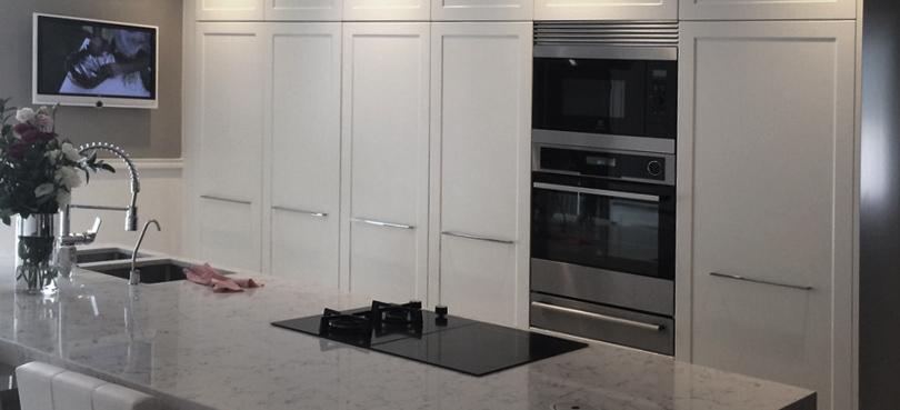 Exposición de muebles de cocina a medida
